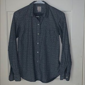 GAP Micro Floral Chambray Button Down Shirt